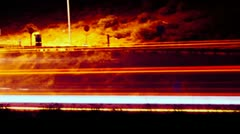 Zoom Out Traffic Time Lapse At night Stock Footage