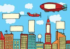 Advertising city / visual contamination Stock Illustration