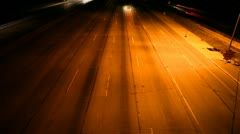 Light Streaks Time lapse of Traffic At Night Stock Footage