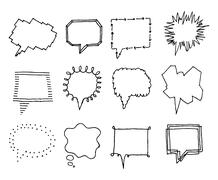 set of speech bubbles with personality 2 - stock illustration