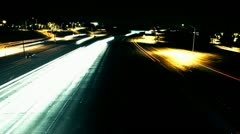 Freeway Time Lapse At night Stock Footage