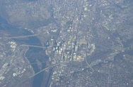 Stock Video Footage of Richmond, Virginia aerial view