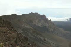 Haleakala volcano, Maui, Hawaii - stock footage