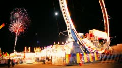 Time Lapse of Fair Midway At Night - stock footage
