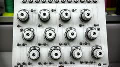 Spools On Embroidery Machine Stock Footage