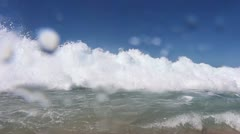 Stock Video Footage of Dangerous current - water hits camera  (3)