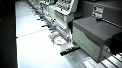 Automated Sweat Shop Stock Footage