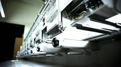 Row of Embroidery Machines Stock Footage