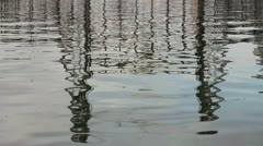Water Reflection of Steel Bridge in Portland Oregon 1080p Stock Footage