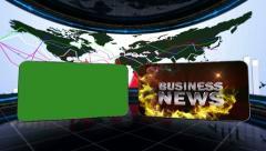 09 bus news blue 1 Stock Footage