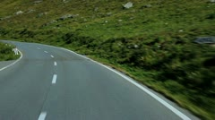 Road travel in Alps. Stock Footage