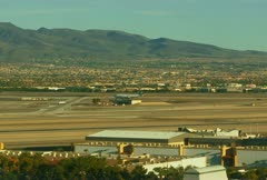 Stock Video Footage of Wide Angle Midday Las Vegas Airport