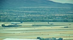 Desert Airport Runway Spot Focus - stock footage