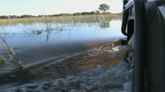 Driving in Water (Part 2) Stock Footage