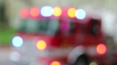 Portland Fire Truck with Emergency Lights Blinking 1080p Stock Footage
