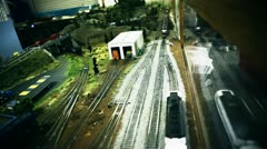 Stock Video Footage of Miniature Train Set