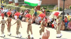 Indo-Pak Border Stock Footage