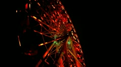 Saturated Ferris Wheel At Night - stock footage