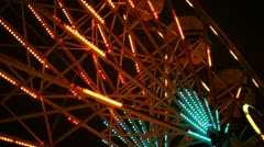 Ferris Wheel Close up At Night Stock Footage