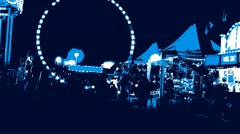 High Contrast at Midway of Fair Stock Footage