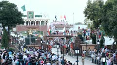 Indo-Pak Border-2 Stock Footage