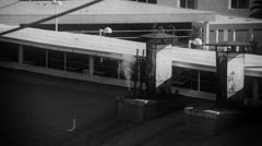 Steam Rises from Vintage Look Old Factory Stock Footage