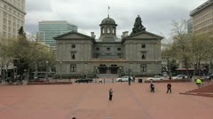 Pioneer Courthouse Square in Portland Oregon Timelapse 1920x1080 Stock Footage
