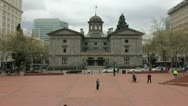 Stock Video Footage of Pioneer Courthouse Square in Portland Oregon Timelapse 1920x1080