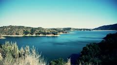 Man Made California Lake Daytime Stock Footage