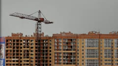 building crane - stock footage