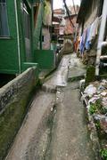 favella alley - stock photo