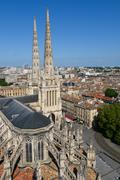 st. andrew's cathedral, bordeaux, france - stock photo