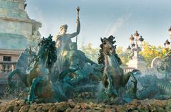 Girondins monument and fountain, bordeaux, france Stock Photos