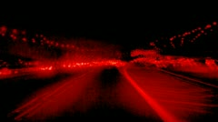 Red Psychedelic Time Lapse of Cars driving on Freeway - stock footage