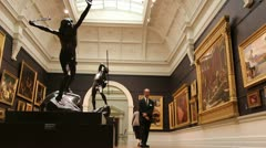 Inside the Art Gallery of New South Wales (2) Stock Footage