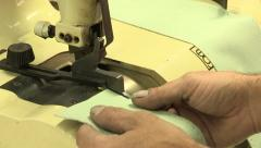 Leather skiving machine Stock Footage