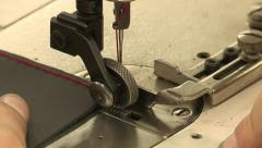 Sewing leather Stock Footage