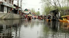 Dal Lake In Kashmir Stock Footage