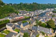 Stock Photo of Dinan, Brittany, France - Ancient town on the river