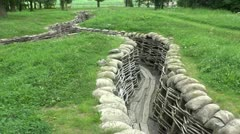 The Bayernwald German Trenches, Kemmel, Belgium Stock Footage