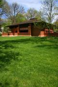 Frank lloyd wright designed house in oak park Stock Photos