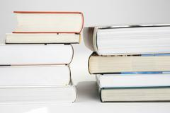 Two piles of books Stock Photos