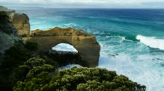 Arch great ocean road Stock Footage