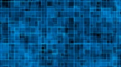Blue Square Grid Stock Footage