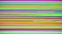 Abstract Multi Colored Horizontal Stripe Background Loop Stock Footage