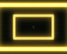 Bright Light Bulb Rectangle Marquee Loop Stock Footage