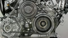 front view car engine - stock footage