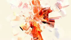 Red and Orange Abstract ice cube plasma spray Stock Footage