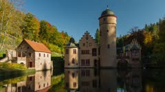 Mespelbrunn Castle, Timelapse, Spessart, Germany Stock Footage