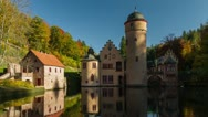 Stock Video Footage of Mespelbrunn Castle, Timelapse, Spessart, Germany